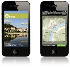 """Touren-App """"Wachau-Nibelungengau-Kremstal"""": Mit dem Tourenplaner kann nach Thema, Schwierigkeit, Sportart, Streckenlänge und Dauer die Wunschtour ausgesucht werden."""