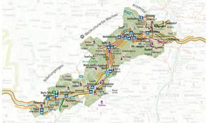 Regionskarte Wachau-Nibelungengau-Kremstal